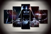 animal pictures children - 5 Piece Ready To Hang With Framed Printed star wars darth vader Painting child room decor print poster picture canvas digital oil painting