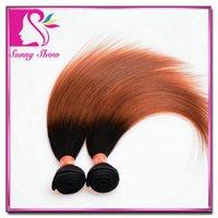 Cheap Malaysian Two Tone Hair Bundles 2pc lot Best Brazilian Virgin Ombre Straight Hair