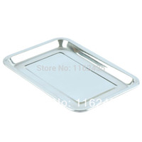 bbq grill supplies - Stainless steel pallet outdoor bbq plate rectangle outdoor camping tray spices dish BBQ grill supplies