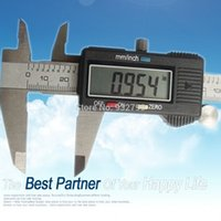 Wholesale 6 Inch mm Stainless Steel Electronic LCD Digital Vernier Caliper Gauge Micrometer Ruler quot Depth Measurement Measuring Tool order lt no t