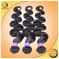 Wholesale 6A Virgin Brazilian Body Wave Hair Bundles Weaves Peruvian Indian Malaysian Body Wave Hair Wefts Brazilian Body Wave Bundles Human Hair