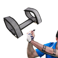 Wholesale Golf Beginners Training Aids Golf Swing Straight Practice Elbow Brace Posture Corrector Support Arc Trainers Golf Accessories