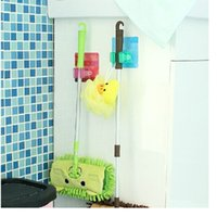 Wholesale Bathroom Bath Accessories Wall Storage Rack Home Magic Mop Frame Adhesive Stick