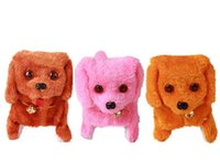 Wholesale Battery Powered Steel Blue Plush Walking Barking Electronic Dog Toy Educational Toys
