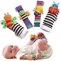 Wholesale Hot Selling Baby Rattle Baby Toys Lamaze Plush Garden Bug Wrist Rattle Foot Socks Styles