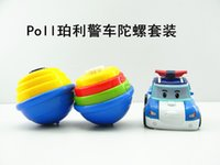 Wholesale Robocar Poli South Korea Thomas Classic Action Figure Cars Robot Toys with Spinning top