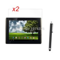 Wholesale Stylus Pen Glossy Guards Clear Screen Protector For Asus Transformer EeePad TF101 Tablet Retail Package