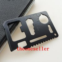 Wholesale Mini Stainless Steel Multi Pocket in Credit Card Tool Portable Outdoor Survival Camping Wallet Card Tools Knife