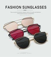 2017 gafas de sol de alta calidad de la manera los vidrios de sol de gran tamaño de la aleación ultraligera para las mujeres el verano del carácter vacatin el partido que compra oculos de sol