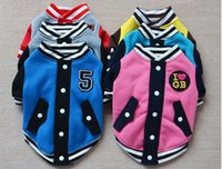 baseball dog toy - 2015 NEW Fashion Flannel Baseball equipment Pet Puppy Dog Clothes Sports Dog Clothes winter Drop Shipping