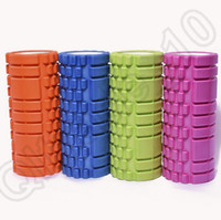 Wholesale HHH535 Yoga Foam Roller Exercise Trigger Point GYM Pilates Texture Physio Self Muscle Massage Fitness Training High Density x14CM PVC EVA