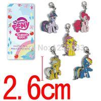 achat en gros de gros petit pendentif poney-Gros-My Little Pony Friendship is Magic Rainbow Dash PINKIE PIE Fluttershy chaîne pendentif Set