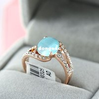 Cheap crystal fashion ring Best crystal opal ring