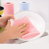 Wholesale 1 ring Tearable non woven disposable kitchen roll breakpoint oil cleaning kitchen cloths absorbent soft wash x