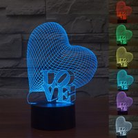 color changing night light - Love Heart Lamp D LED Smart Lights Wedding Favors Touch Switch Night Lights Color Changing Lights Modern Lighting Colorful Table Lamps