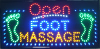 Wholesale 2016 Large x16 quot Open Foot Massage LED Salon Spa Nails Neon Sign Shop Bright Display