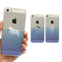 apple penguin - Cartoon ocean animals Polar Bear Penguins Seal Dolphin Clear soft TPU Cover Case For iphone S Plus inch S