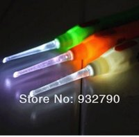 Wholesale 3Pcs Adult Baby Kids Children Safe LED Flash Lighting Ear Pick Spoon Earwax Curette Remover Ear pick Clean Ears Tool Gift order lt no track