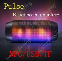 Wholesale 1 pc New Hotting PULSE Portable Wireless Bluetooth Mini Speaker Support NFC Colorful LED Lights
