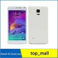 Wholesale Sealed box inch Note Four N9100 MTK6572 Dual Core Show G GB Android Dual Camera WIFI Show G LTE G Smart Phone hot sale R