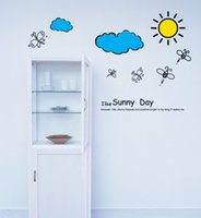 Wholesale Sun Vinyl Stickers - wall stickers home decor 609 Sun Baiyun Wall Stickers