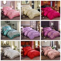 bedding fashion quilt - Luxurious Silk Cotton Jacquard Bedding Sets Queen King Size Bedclothes Duvet Quilt Cover Sheet Home Textiles Spreads European Fashion