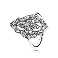 Wholesale Silver Sparking Lace with Clear CZ Ring New Sterling Silver Ring DIY Fine Jewelry AC3668