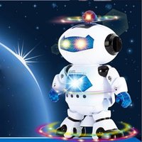 Wholesale Electric Smart Space Walking Dancing Robot Children Kids Music Light Toys