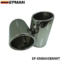 exhaust pipe for muffler - EPMAN x NO SCREW Steel Silver Muffler Exhaust Tail Pipe Tip For BMW F25 X3 xDrive28i EP EM8045BMWT