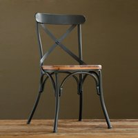 Wholesale Creative furniture computer stool cafe chairs blacksmith back of a chair iron chair dining chair color