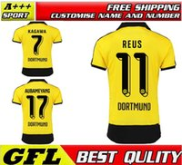 football shirt - Borussia Dortmund Home soccer jersey Dortmund champions league football shirt SAHIN HUMMELS REUS MKHITARYAN IMMOBILE jerseys shir