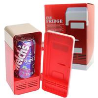beverage can cooler - Mini car USB PC Fridge Freezer Refrigerator Beverage Drink Cans Warmer Cooler System