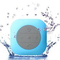 bathroom cube - CBP Waterproof Speakers New Style Cube Sucker Hands Free Wireless Bluetooth Bathroom Speaker Colors Available DHL Free MIS118