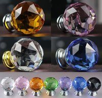 Wholesale The new crystal glass doors crystal handle furniture handle bathroom door handle mm
