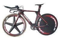 trek bike - 2016 Time Trial Bicycle Miracle Carbon Fiber Triathlon Bike cm New Design Red Line White Decal Carbon TT Complete Bike