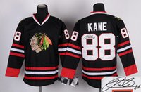 athletic wear brands - Blackhawks Patrick Kane Autographed Hockey Jerseys Black Ice Hockey Jersey Brand Hockey Wear Embroidered Athletic Team Uniforms for Men