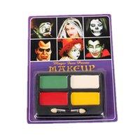 Wholesale Hot Waterproof Halloween Face Paint Non toxic Children Halloween Carnival Party Festive Face Paint Makeup