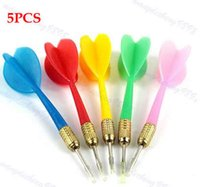 Wholesale 5PCS Color Plastic Wing Darts Needle Kids Tone Dart Steel Brass Throwing Tip Toy