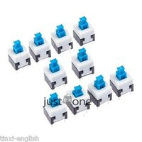 Cheap 8x8mm Self-locking Type Square Button Tactile Push Button Switch Momentary Tact DIP Through-Hole 4pin