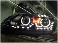 Wholesale for Passat headlight assembly refires led lamp dacryops bifocal lens double xenon lamp assembly order lt no track