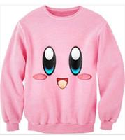 Cheap ISWAG men women sexy 3D cc sweat shirt kirby cartoon sweater jumper couples love pink harajuku brand sportswear varsity jacket