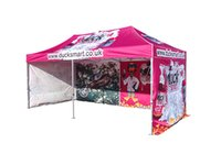 Wholesale 10x20 Custom Branded Printed Event Pop Up Canopy Tents x20 Full color printing tradeshow booth with custom walls and wheeled bag
