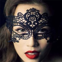wholesale lace ribbon - Sexy White Black Lace Party Masks for Halloween Christmas with Ribbons Women Venetian Masquerade Eye Hollow Flower Mask for Party