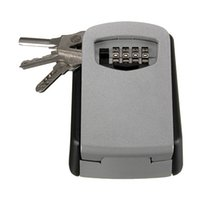 Wholesale STEEL OUTDOOR WALL KEY BOX WITH COMBINATION STORE KEYS HIGH SECURITY LOCK Home SAFE