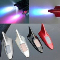 Wholesale Colorful Solar Power Shark Fin Antenna Style Car LED Flash Warning Tail Light A1459