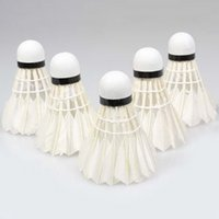 Wholesale 5Pcs Game Sport Training White Duck Feather Shuttlecocks Birdies Badminton Ball