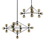Wholesale 5 head DIY New Modern MODO chandelier glass DNA pendant lamp ceiling light Jason Miller MODO Chandelier Droplight For Bar Restaurant