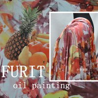 Wholesale High oil burning digital inkjet printing heavy snow cloth fabric fruit series