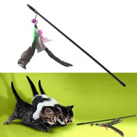 Wholesale Funny Kitten Play Length Interactive Fun Bell Training Wand Feather Cat Toy Cat Training Behaviour Aids