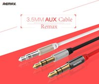 Cheap 3.5mm Remax AUX Cable 3 feet Male to Male Plug Jack for iPhone iPad iPod Mobile Headphone MP3 CD Player Audio Wire